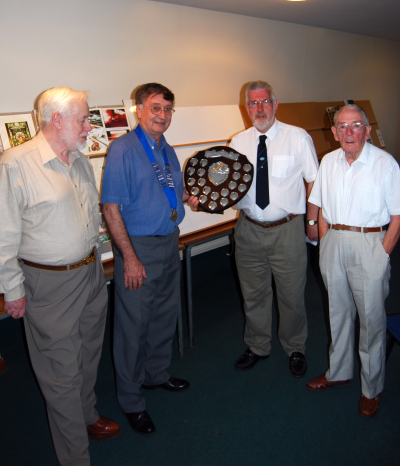 Alan Crozier, President Brian Allcock, Richard Page and Roy Palmer