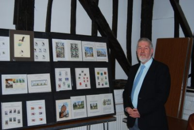 Chairman Richard Page is seen displaying Birds of Prey